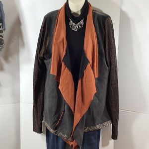 Gimmicks by BKE Buckle waterfall cardigan NWT